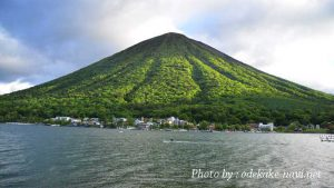 中禅寺湖からの男体山