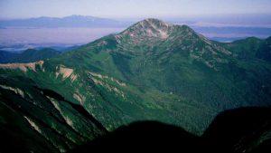飛騨山脈(北アルプス)鷲羽岳から望む黒部五郎岳
