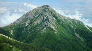 赤岩岳から望む常念岳