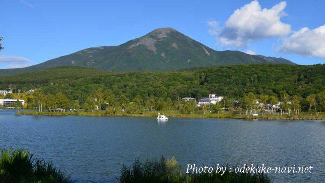 白樺湖からの蓼科山