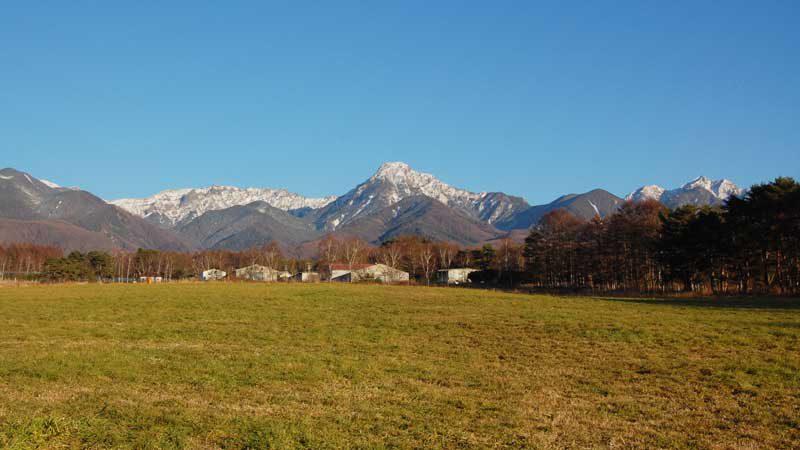 赤岳のある八ヶ岳連峰