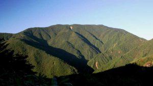 ヘブンスそのはらの林道分岐からの恵那山