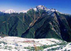 烏帽子岳からの塩見岳