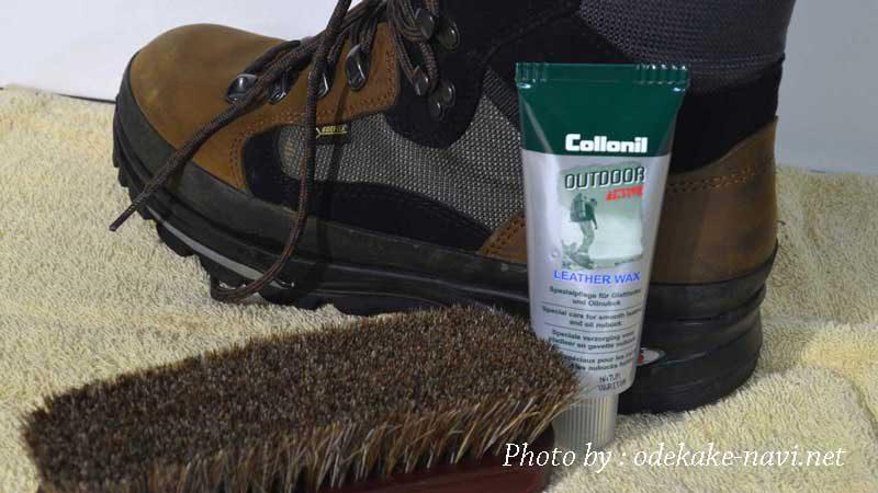 登山靴とコロニルのレザーワックス