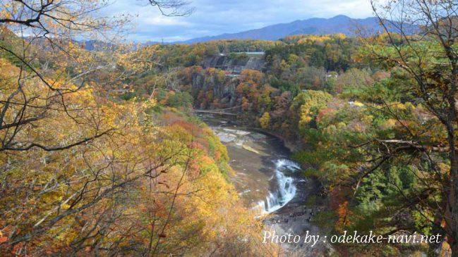 吹割の滝と日光白根山