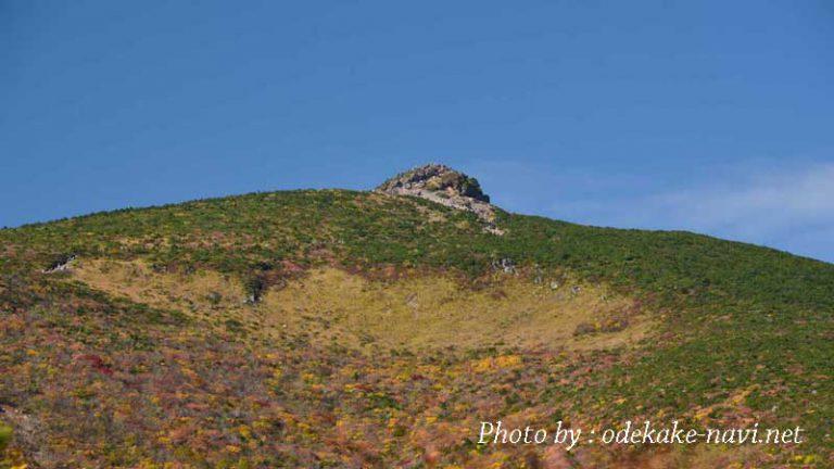 紅葉の安達太良山山頂(乳首山)