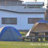 大間崎キャンプサイトとテント
