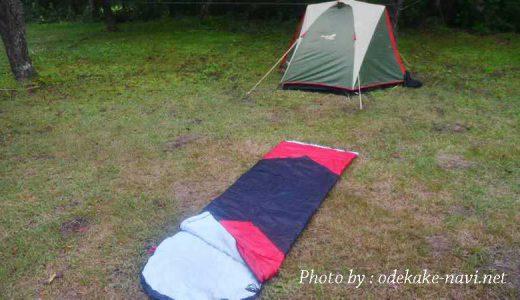 3シーズン用の寝袋とツーリングテント