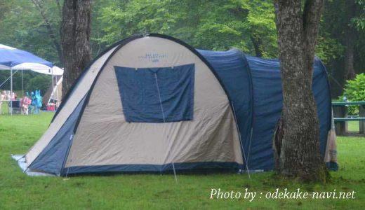 龍泉洞青少年旅行村キャンプ場のテント