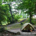 大山下山キャンプ場のソロツーリングテント