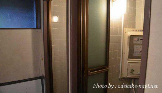 大山下山キャンプ場のシャワー室