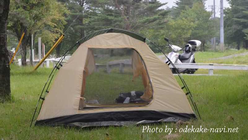 高森高原キャンプ場のツーリングテント