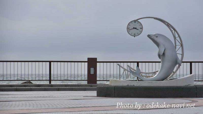 野寒布岬(ノシャップ岬)のイルカ時計台