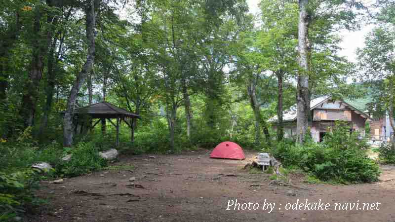 山ノ鼻キャンプ場のテント