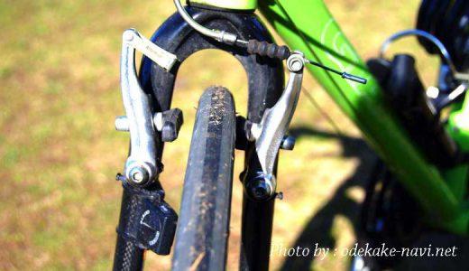 クロスバイクのフロントブレーキ