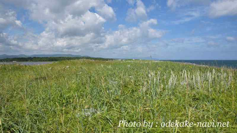 シブノツナイ湖とオホーツク海