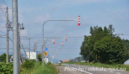 北海道の路肩道路標示(矢印)