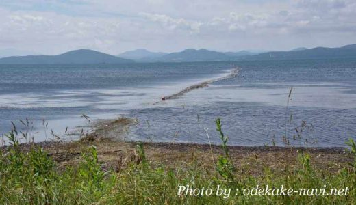 サロマ湖の漁業網